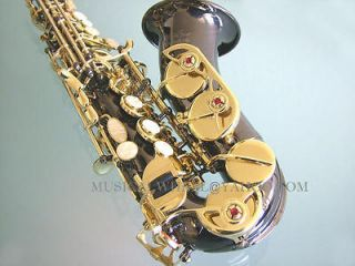 Curved SOPRANO SAXOPHONE Sax  Black Nickel Gold Keys