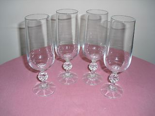 CLAUDIA BOHEMIA CRYSTAL CHAMPAGNE FLUTE SET OF GLASSES 180 ML