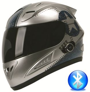 TORC Blinc Bluetooth Full Face Motorcycle Helmet T10B Flight Fighter
