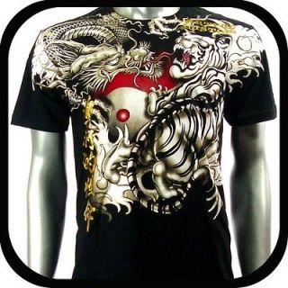 Artful Couture T Shirt Dragon Tattoo AB30 Sz M L XL XXL Biker Rock