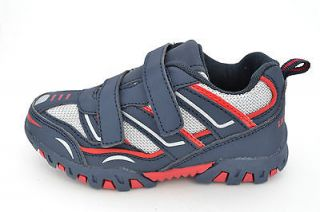 New Little Laces Toddler Boys Blue Velcro Sneaker Shoe (Less than