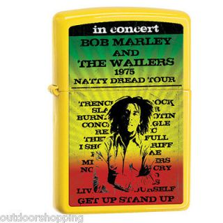 LEMON MATTE BOB MARLEY AUTHENTIC ZIPPO LIGHTER   Made in USA