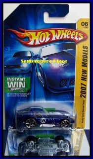 2007 Hot Wheels # 006 Shelby Cobra Daytona Coupe Blue