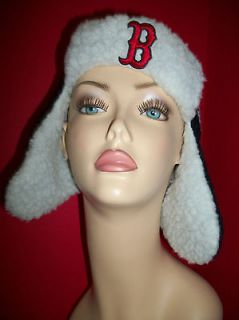 NEW Boston Red Sox Unisex Clothes OSFM Ear Flap Winter Hat NWT Cold