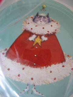 Department 56 Christmas Patience Brewster Krinkles Princess Cat Bowl