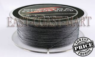 PE DYNEEMA BRAID FISHING LINE 20LB 300M SPECTRA GRAY 328 YARD BRAIDED