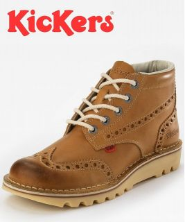 KICK HI BOOTS   SKU NO 111693 Mens Kick Brogue Tan Boot *** N E W