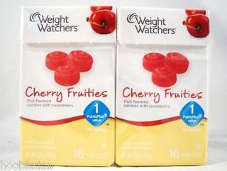 WEIGHT WATCHERS Fruities Candies 10 Boxes Fresh Cherry