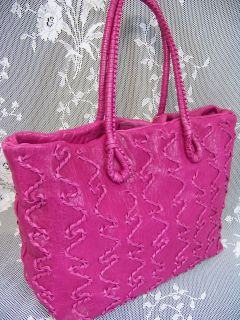 FALORNI ,LE BORSE,FALOR,Italian, Fuchsia Leather Handbag,Tote,Purse