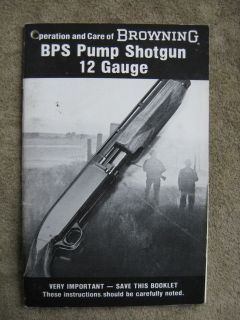 Browning BPS 12 Gauge Shotgun Instruction owners manual ORIGINAL