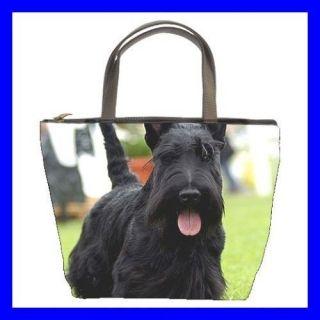 Bucket Bag Handbag BLACK SCOTTISH TERRIER Dog Puppy Pet (21647990)