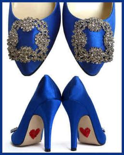 SOMETHING BLUE COBALT CARRIE CRYSTAL WEDDING BRIDAL PUMPS SHOES 10
