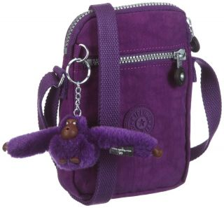 Kipling KAGISO Bright Purple Shoulder Acrossbody Bag Womens FREE P&P