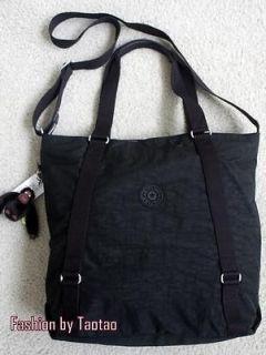 New with Tag Kipling Cubic Tote Handbag Shoulder Carryall Bag Black