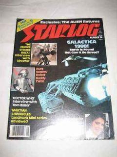 #34 May 1980 Galactica 1980 Doctor Who Tom Baker Twiki Buck Rogers