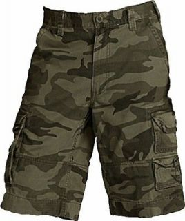 NEW $58 MENS Roundtree & Yorke RUGGED MILITARY CAMO CARGO Long SHORTS