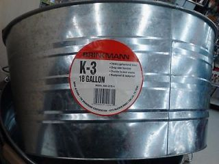 TUB SET 18 GL Galvanized Buckets Wash Tub Soda Cooler Halloween