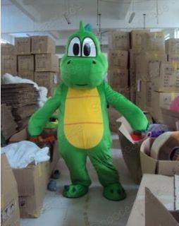 Yoshi Dinosaur Super Mario Brothers Mascot Costume Fancy Dress