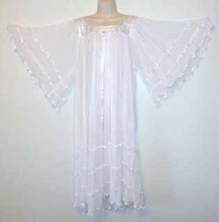 White Angel Hippie Gauze Crochet Dress Mexican Dress 60s Retro