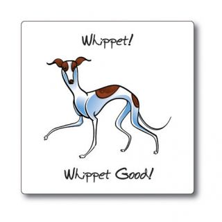 WHIPPET (GOOD) DOG STICKER DECAL **VERY CUTE**
