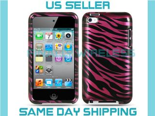 Purple Plum Zebra Fur Print Design Case Cover Apple iPod Touch 4 4th