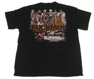 BUCK COMMANDER ~ BLACK BUCKMEN Deer Hunting T Shirt Willie Robertson