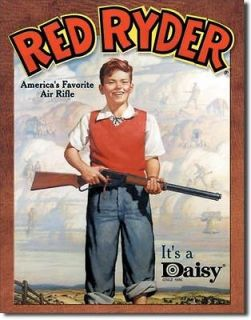 Vintage Replica Tin Metal Sign Red Ryder BB Gun Air Rifle Pellet Daisy