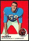 1971 TOPPS PAUL GUIDRY 138 BUFFALO BILLS PSA 7