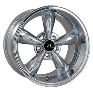 Chrome Deep Dish Mustang ® Bullitt Wheels 17x10.5 Bullet 17 inch Rear
