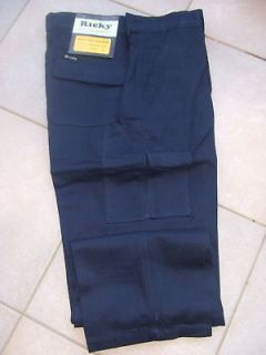 NEW MENS RICKY NAVY BLUE WORK CARGO PANTS SIZE 44