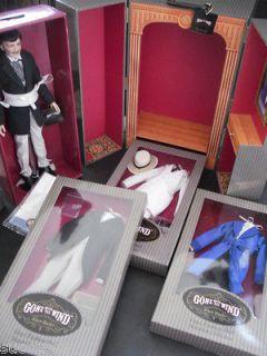 Franklin Mint Rhett Butler Vinyl Doll, Trunk, 3 Ensembles Collection
