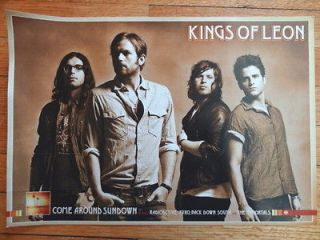 KINGS OF LEON come around sundown Promotional POSTER flat display 12 x