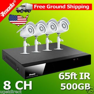 Channel DVR 4 Outdoor Home Surveillance Security Camera System 500GB