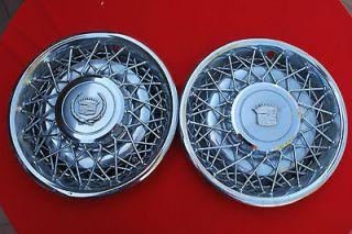 75 85 Cadillac Eldorado Seville Hubcaps Wire Wheel Covers Hub Caps