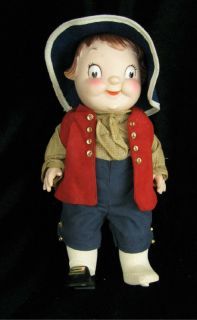 Vintage Campbell Kids Boy Colonial Doll Advertising