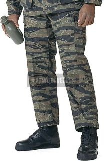 Stripe Camouflage Military BDU Cargo Polyester/Cott​on Fatigue Pants