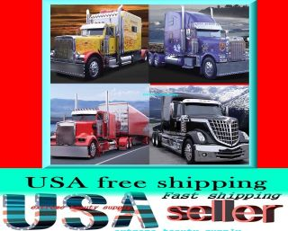 custom red Freightliner Kenworth Peterbilt semi TRUCKs 2013 Calendar