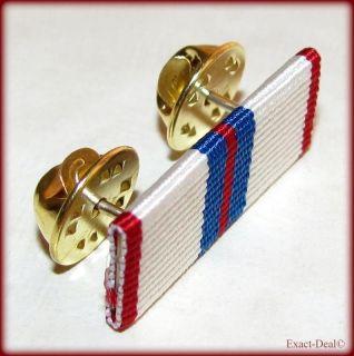 Canadian Queen Elizabeth II Silver Jubilee Medal Ribbon Bar Brooch Pin