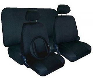 COMFORT CAR TRUCK SUV SEAT COVERS w/ Steering Wheel & Shoulder Pads #D