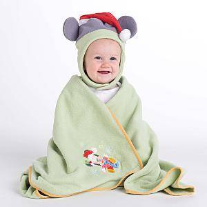 MIckey Mouse Holiday Stroller Blanket & Hat Set (NEW)