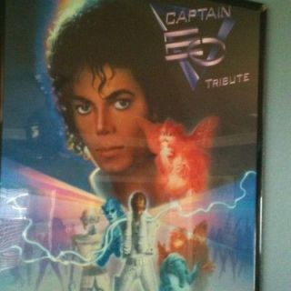 Disney Michael jackson Captain EO Tribute poster (24 X 18)