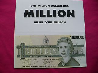 canada 1 million dollar bill novelty if your a canadian show me your