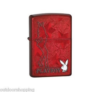CANDY APPLE RED PLAYBOY AUTHENTIC ZIPPO   Refillable Metal Lighter
