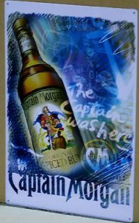 CAPTAIN MORGAN RUM THE CAPTAIN WAS HERE METAL SIGN