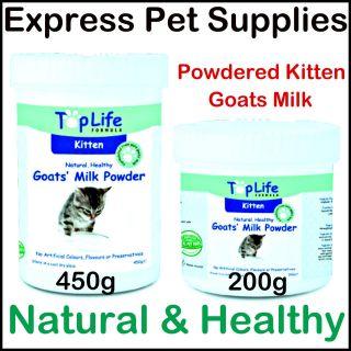TopLife Kitten Cat Goats Milk Powder With Added Vitamins & Minerals