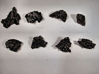 nice lot highest quality best black new campo meteorite crystals