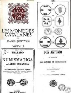 DVD 100 books on coins of Spain and Portugal moedas monedas España