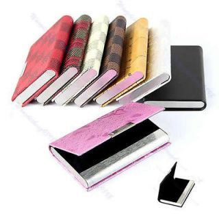 Business ID Credit Card Wallet Case Holder Organizer Box 8 Styles