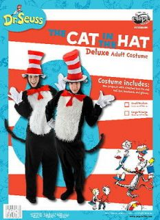 Dr. Seuss The Cat In The Hat Deluxe Adult Costume Kit Large/XL NEW