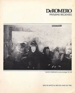 Ralph DeRomero Pinturas Art Catalog Puerto Rico 1986